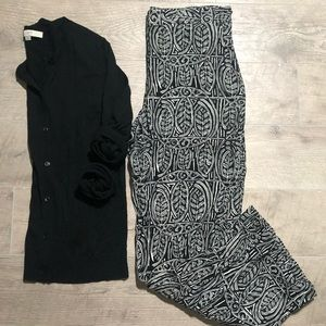 Black & White Printed Palazzo Pant Outfit